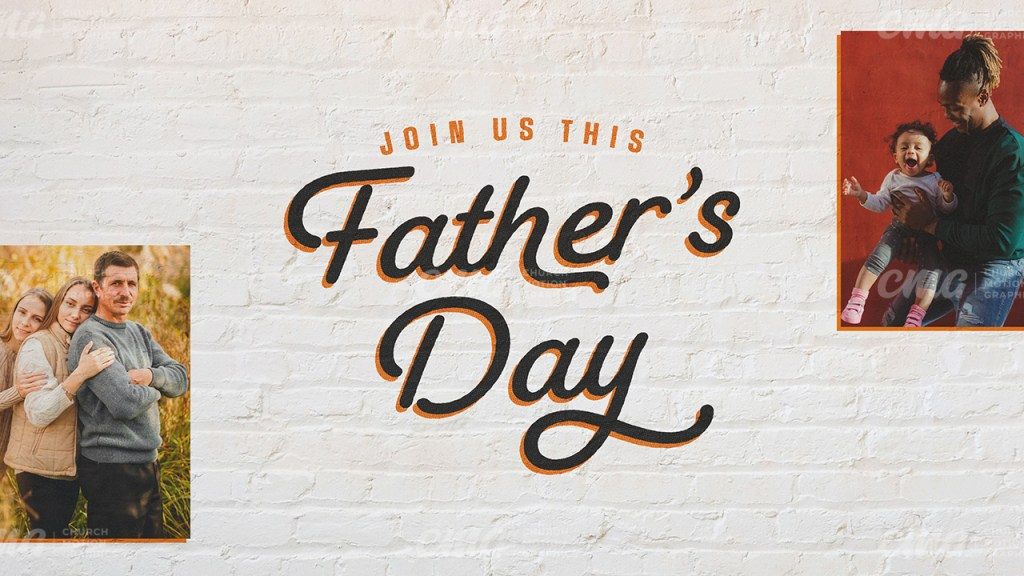 Join Us This Father's Day White Brick Photos-Subtitle