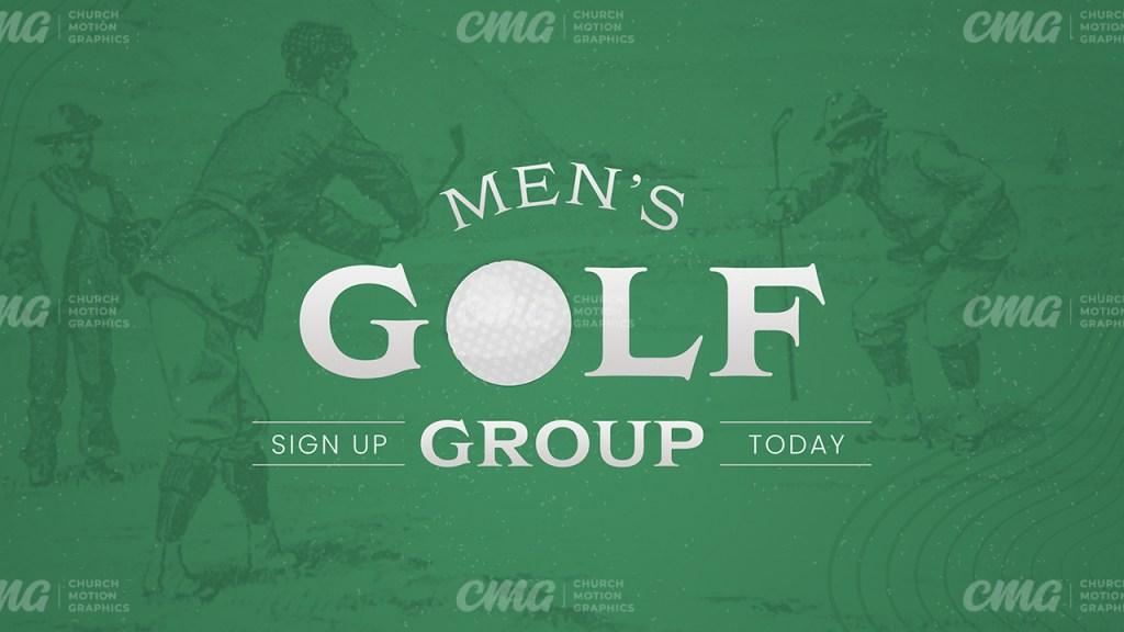 Men's Golf Group Green Vintage Illustration-Subtitle
