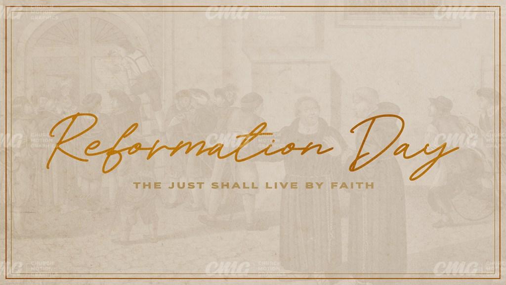 Reformation Day Gold Script Illustration-Subtitle
