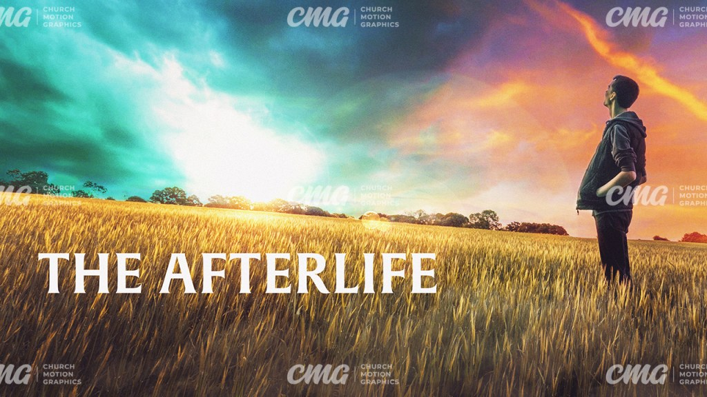 The Afterlife Wheat Field Sky Man-Title