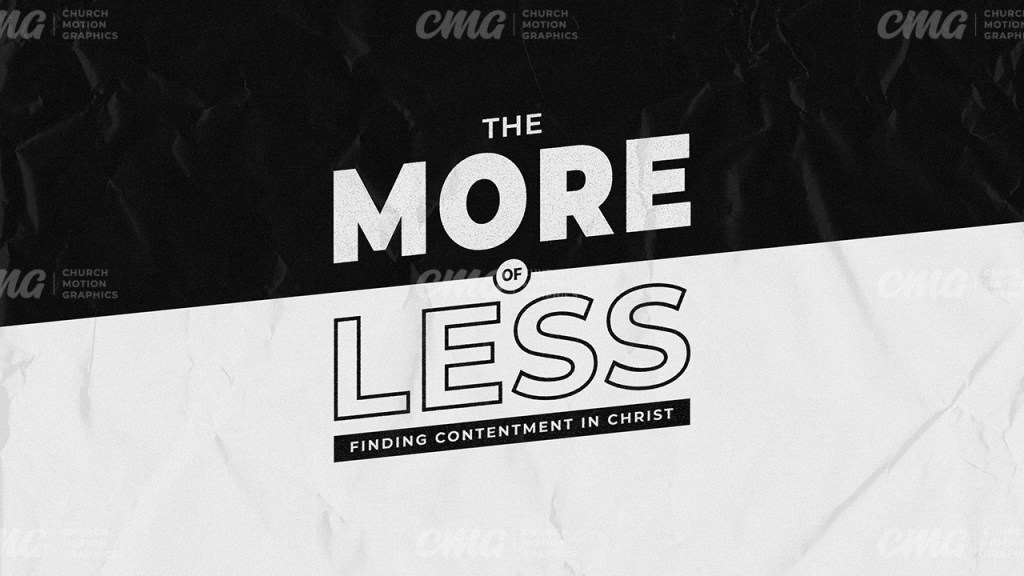 The More of Less Black And White Simple Typography-Subtitle