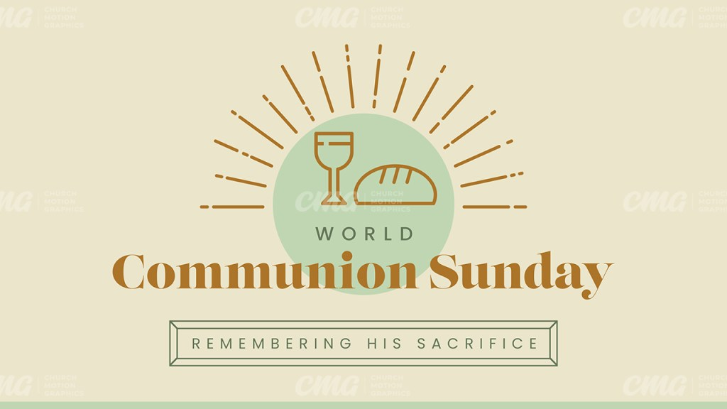 World Communion Sunday Clean Line Icon-Subtitle