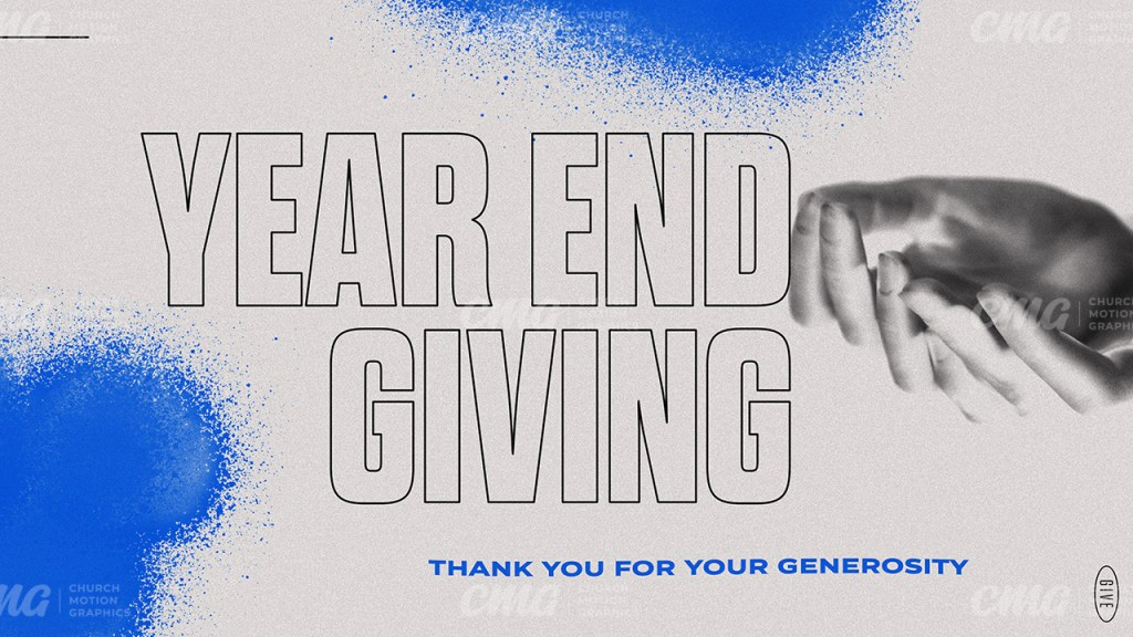 Year End Giving Modern Outline Spray Paint-Subtitle