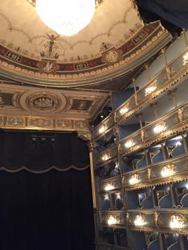 """The Prague opera house, where """"Amadeus"""" was filmed. We watched The Marriage of Figaro, which was an endurance event of different nature altogether..."""