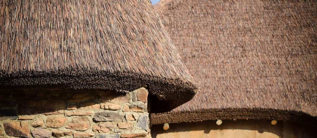 Kilimanjaro synthetic thatch replicates cape reed roofs.