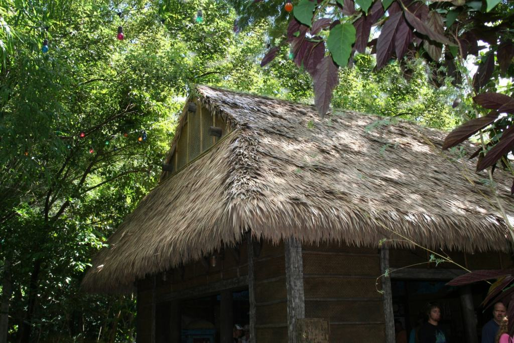 Avoid mold with synthetic thatch.
