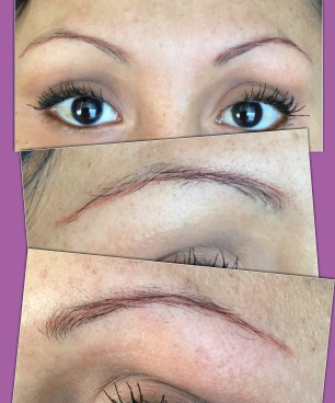 Brow Microblading over old faded tattoo – Enduring Esthetics