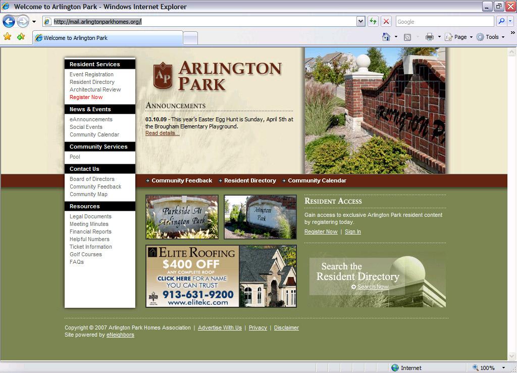Arlington Park Homepage