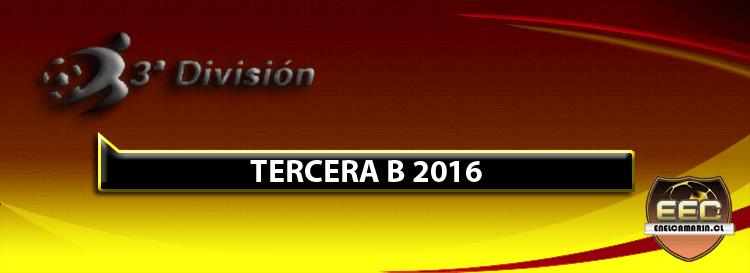 Resultados Fecha 3 Tercera B 2016