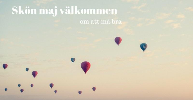 bild på himmel och ballonger. Om att slippa ångest