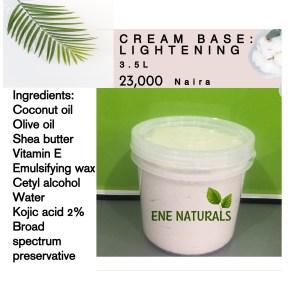 natural cream base