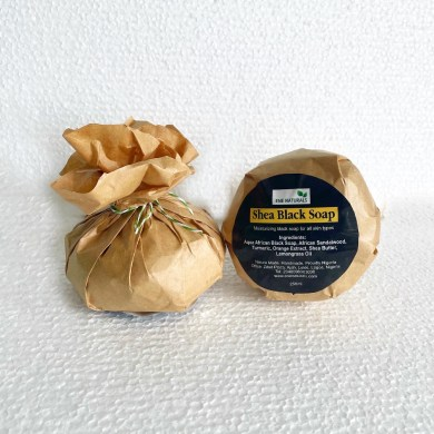 Shea black soap eco friendly