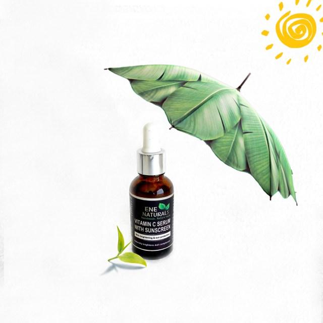 Vitamin C serum with sun protection