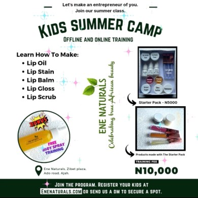 Kids online and physical summer beauty camp