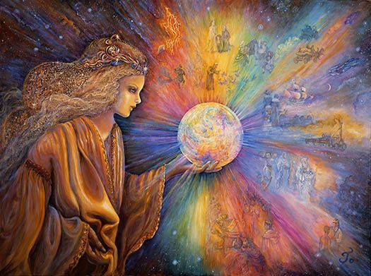 Artwork by Josephine Wall - feeling and dealing with Earth's energetic shifts