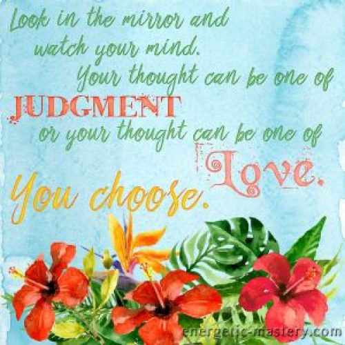Judge or Love. You choose.