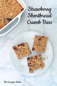 Strawberry Shortbread Crumb Bars