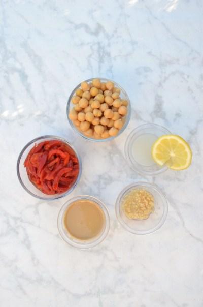 red pepper hummus ingredients