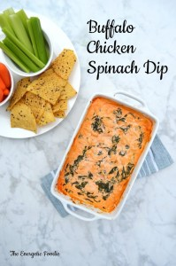 Buffalo Chicken Spinach Dip