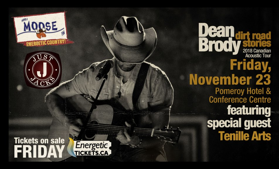 Dean Brody Dirt Road Stories Tour