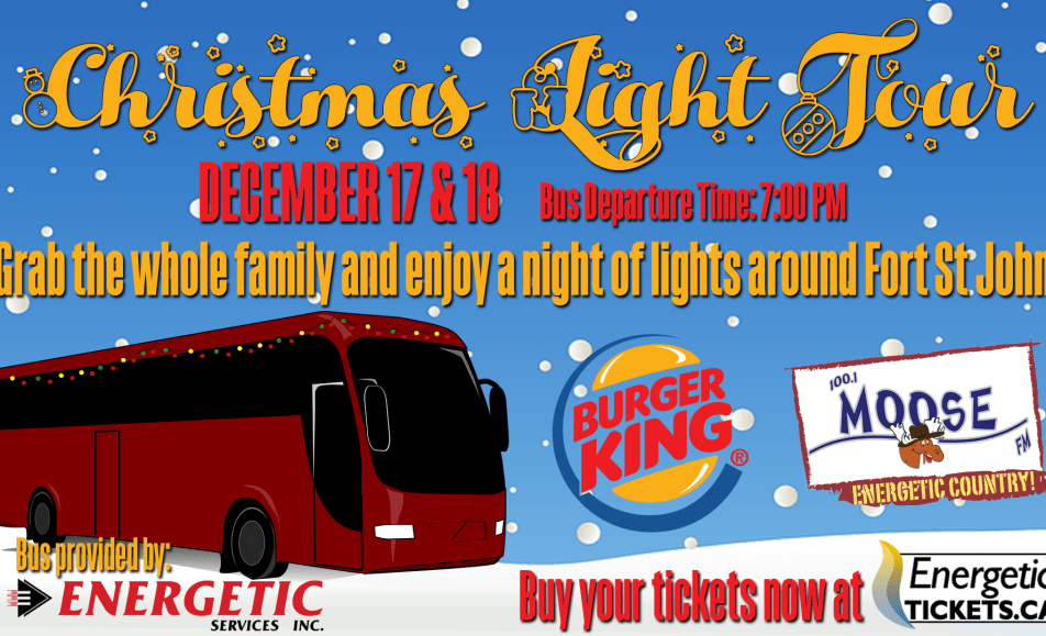 Community Christmas Light Tour – presented by Burger King, Energetic Services and Moose FM