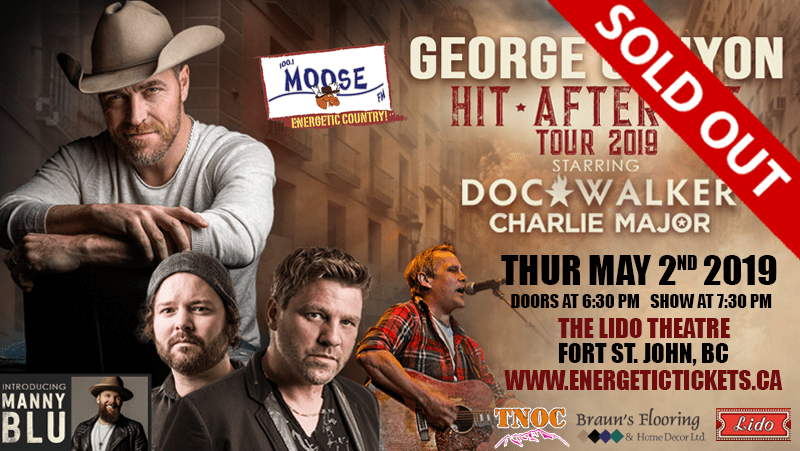 SECOND SHOW ADDED – George Canyon – Hit after Hit Tour – with Doc Walker and Charlie Major