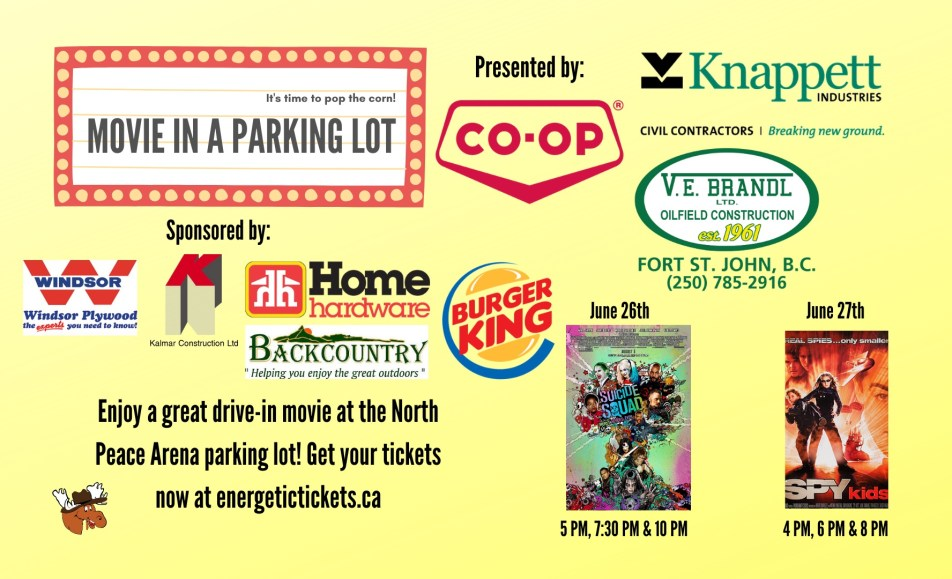 Movie in a Parking Lot – June 26 & 27