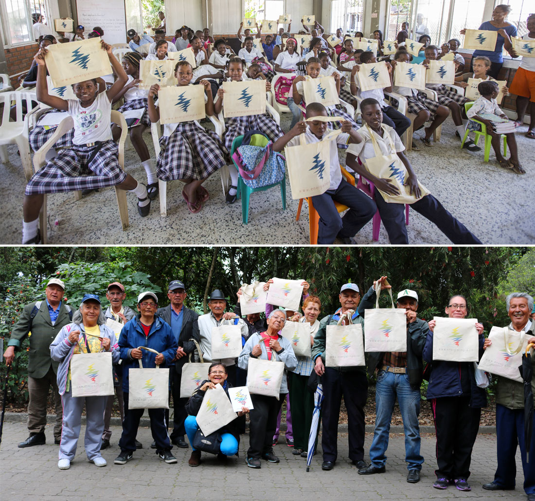 De Punta Soldado (Buenaventura) a Bogotá hay Energía Limpia para grandes y chicos; Fotos: Hanz Rippe Gabriel y Juan Daniel Correa