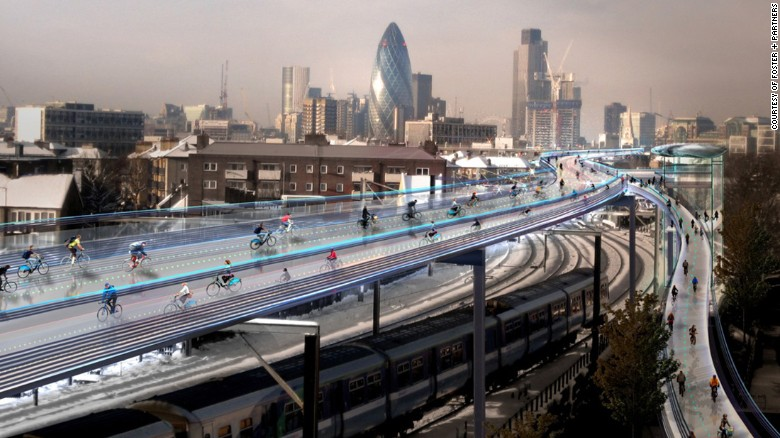 Foto: CNN: Amazing cycle super highways making bikes the transport of the future