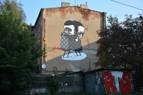 """Stormie Mills, """"The Thank You""""/""""Dziękuję"""", Lodz, Poland, Młynarska 2, photo by Paweł Trzeźwiński"""