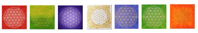 Energiebilder selber malen - Blume des Lebens