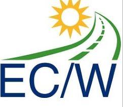 ECW logo -wit