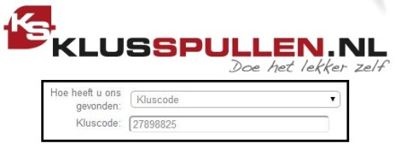 klusspullen.nl korting kluscode