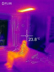 Infraroodfoto van een infraroodpaneel