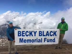 Becky Black Memorial Fund sign