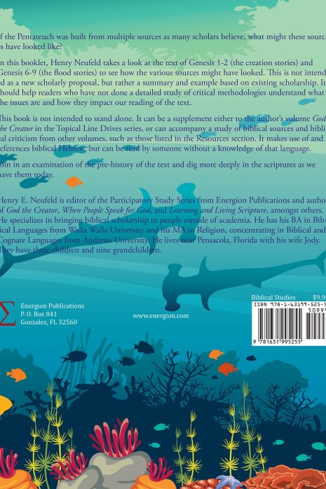 The Creation and Flood Stories (back cover)