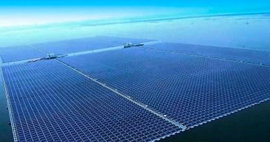 1600 гектар солнечных панелей в море