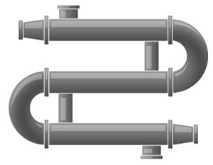 Кожухотрубчатый водо-водяной подогреватель