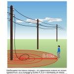 Сообщайте об оборванных проводах в энергокомпанию или властям