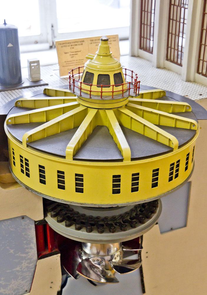 Макет турбины ГЭС
