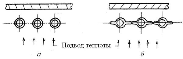 Схема выполнения топочных экранов