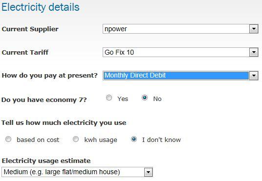 electricity details