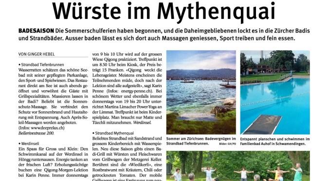 Tagblatt Zürich 2014 - Qigong auf der Werdinsel