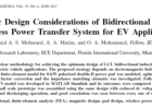 Magnetic Design Considerations of Bidirectional Inductive Wireless Power Transfer System for EV Applications