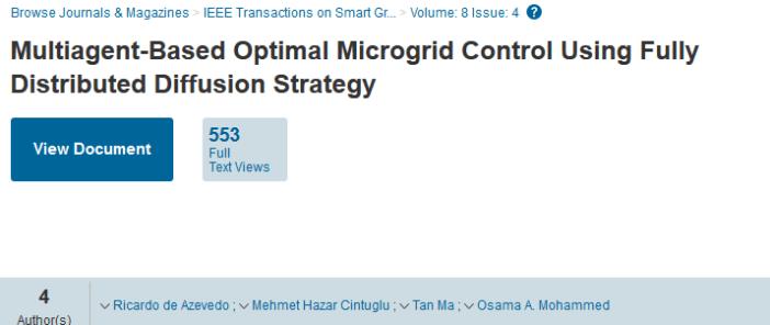 Multiagent-Based Optimal Microgrid