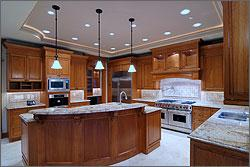 LED lighting in a kitchen.