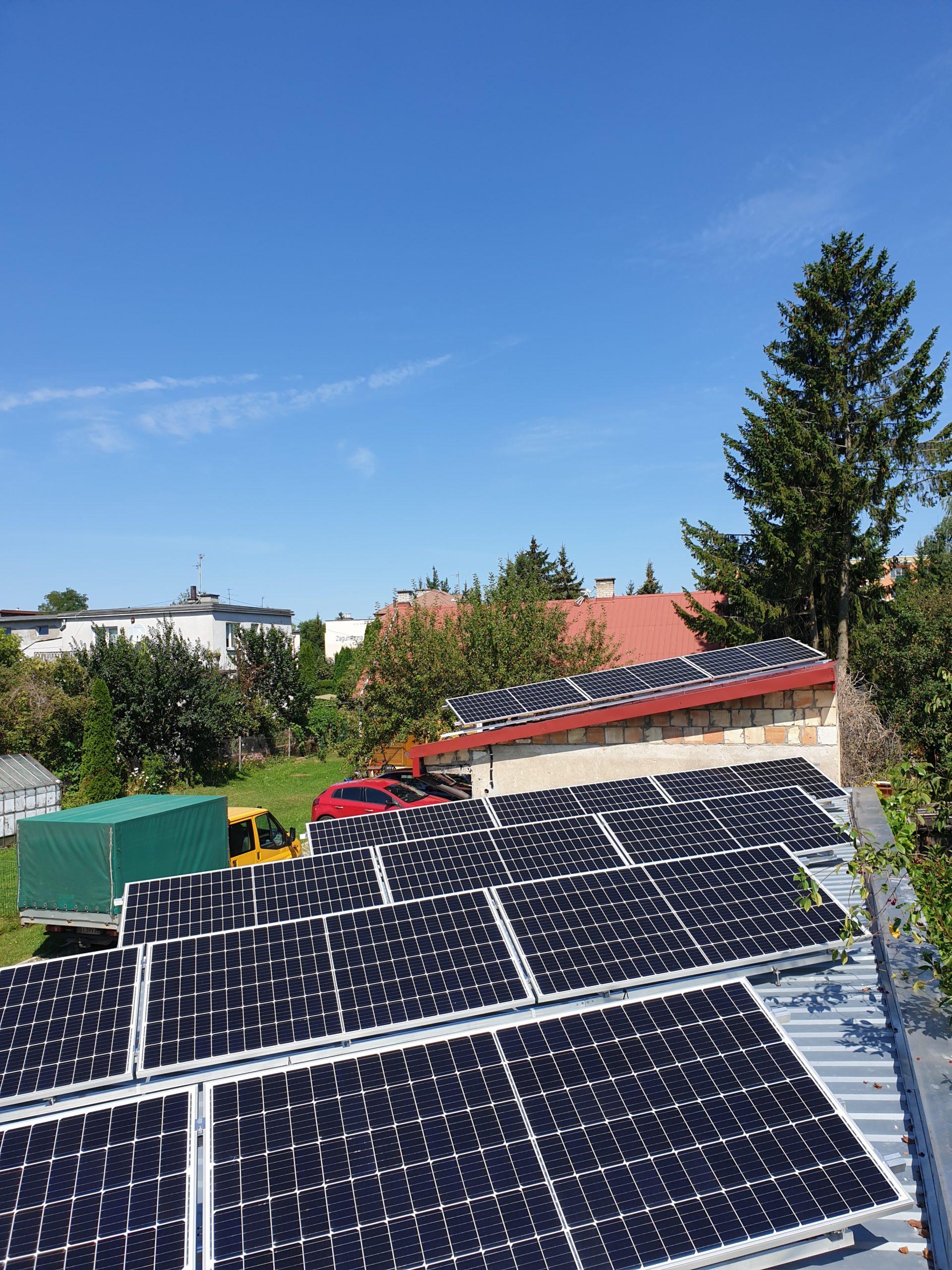Instalacja 9 kW na dachu płaskim