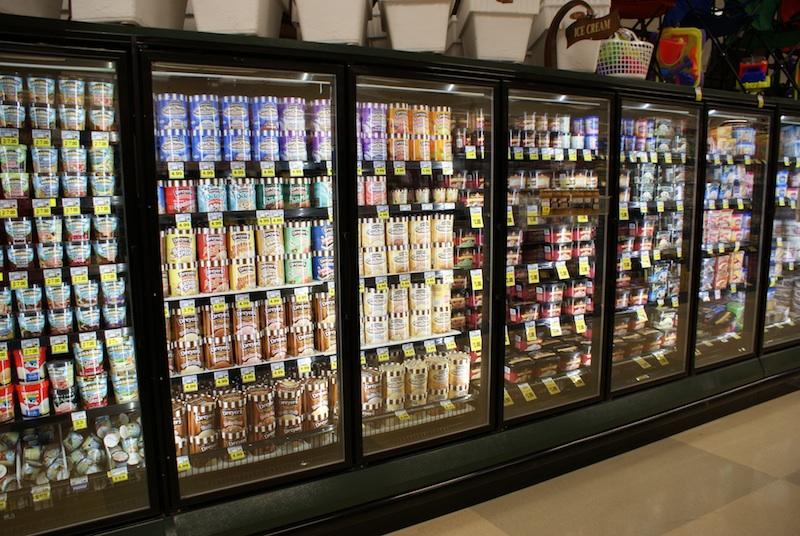 freezer food display case lighting