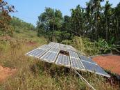 Solar panels , N.S bhatt's house , shekigere , karnataka