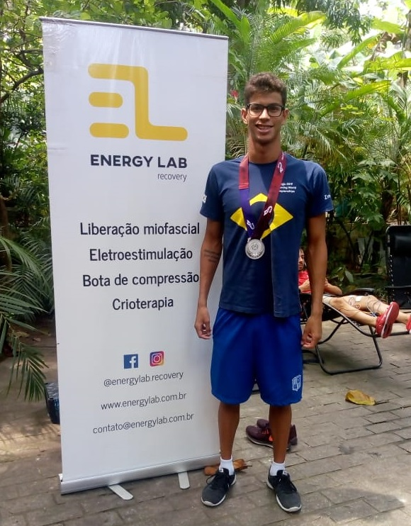 Guilherme Costa Nadador Medalhista Jogos Mundiais Militares Energy Lab Recovery